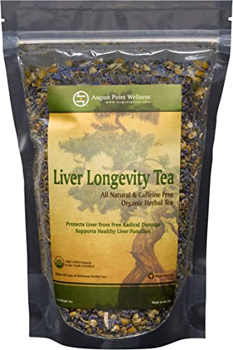 Liver Longevity Tea by August Point Wellness – All Natural Loose Leaf Herbal Tea for Protecting Improving Liver Function