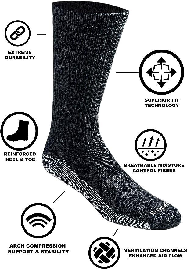 Dickies Men/'s Dri-tech Moisture Control Crew Socks Choose SZ//color