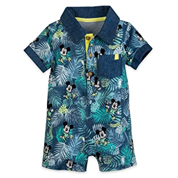 e0f231d53 Image Unavailable. Image not available for. Color: Disney Mickey Mouse  Tropical Romper for Baby Size 12-18 MO Multi