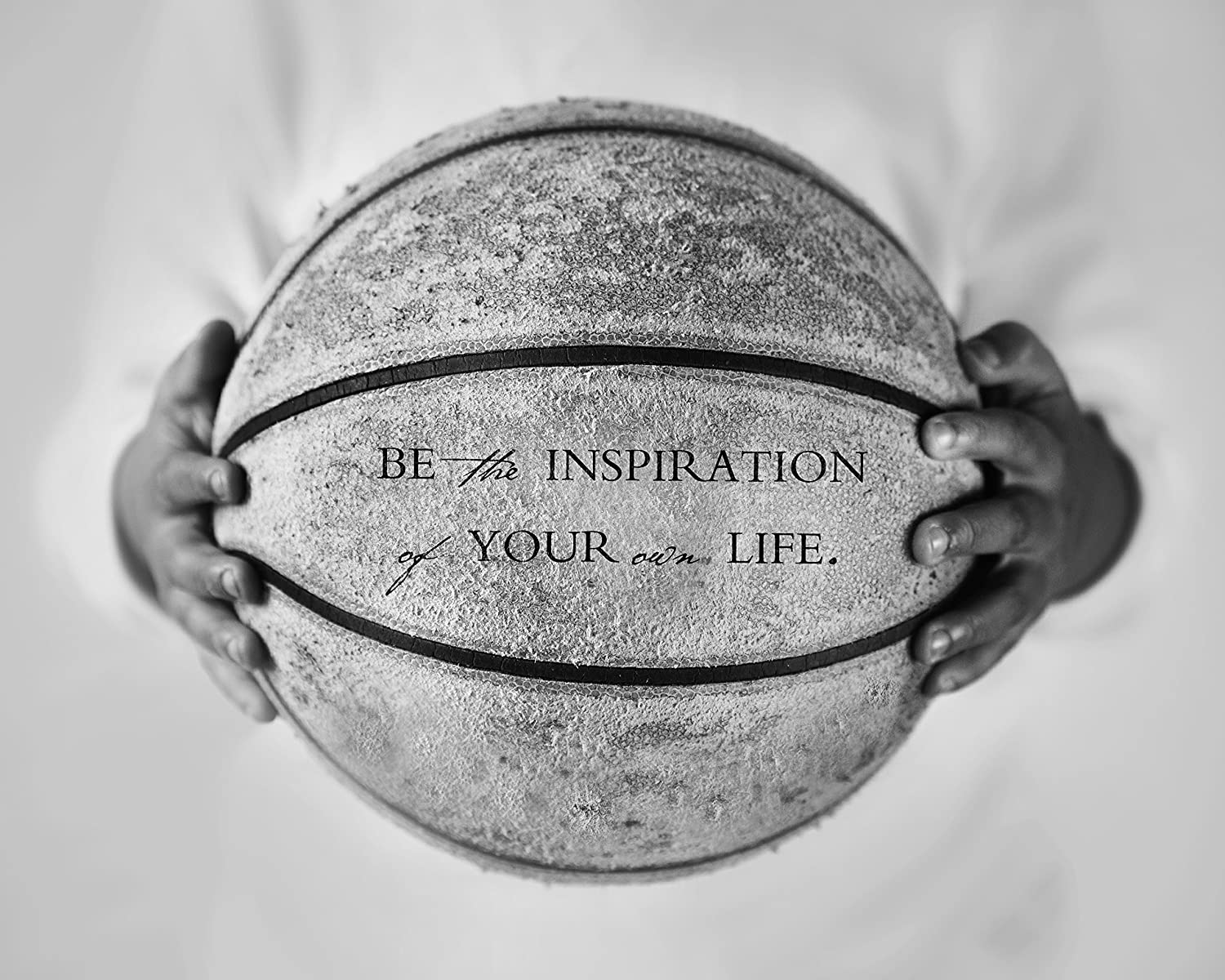 Amazon com basketball sports art print with inspirational quote inspiring office dorm bedroom decor photo handmade