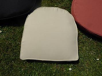 uk gardens cream beige garden furniture chair cushion seat pad round