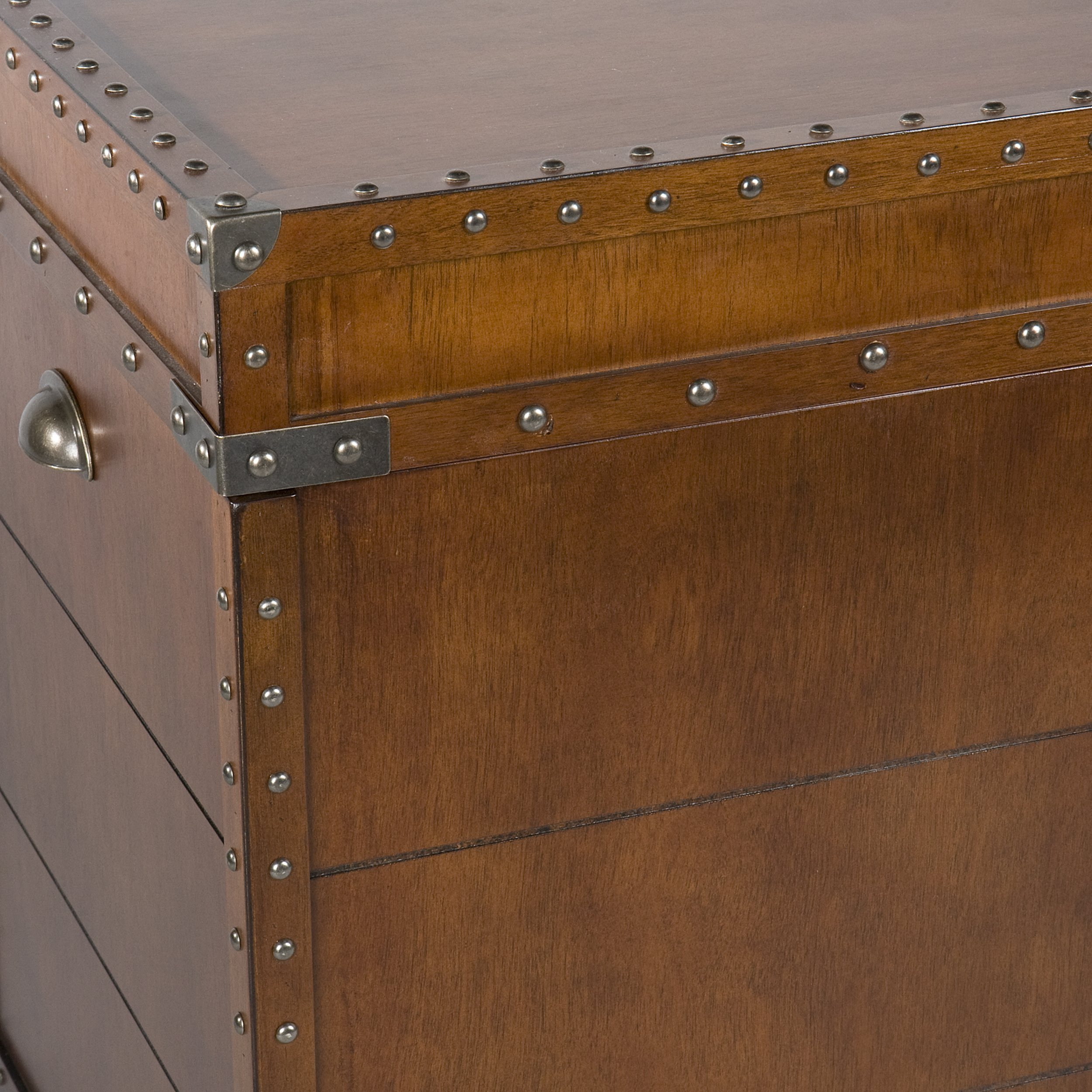 Southern Enterprises Steamer Trunk End Table - Rustic Nailhead Trim - Refinded Industrial Style by Southern Enterprises (Image #4)