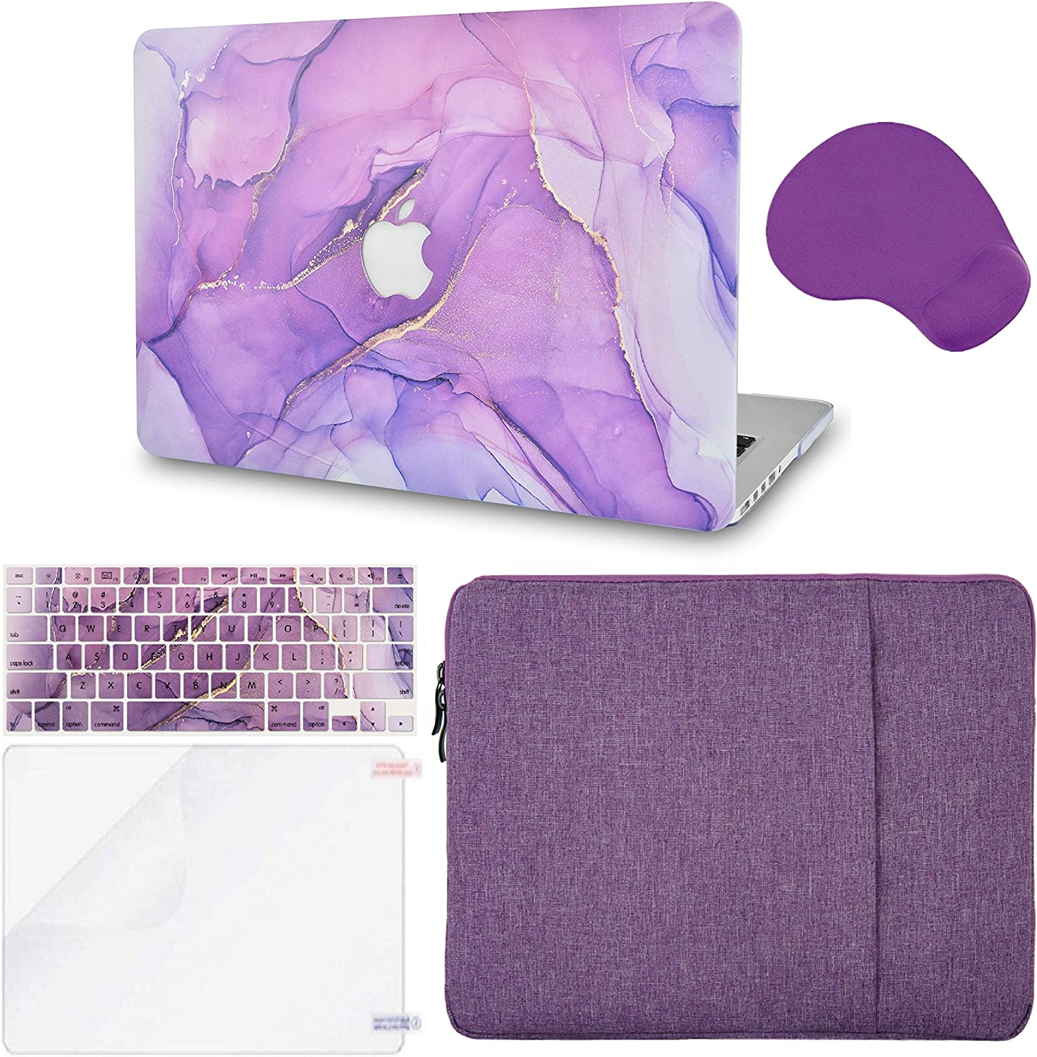 LuvCase 5 in 1 Laptop Case Compatible withMacBookPro 13