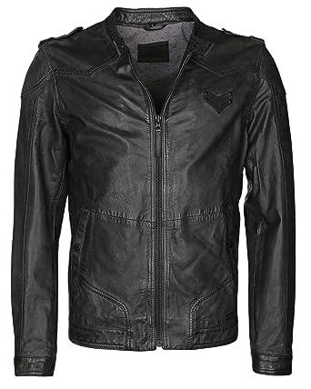 Genießen Sie kostenlosen Versand Super Specials klare Textur Mustang Herren Lederjacke Biker Marcos-b schwarz: Amazon.de ...