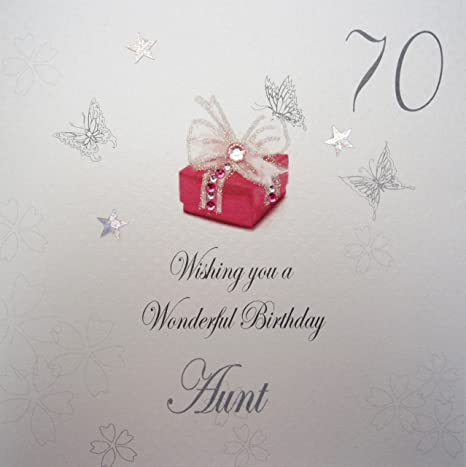 White Cotton Cards Wishing You A Wonderful Aunt Handmade 70th
