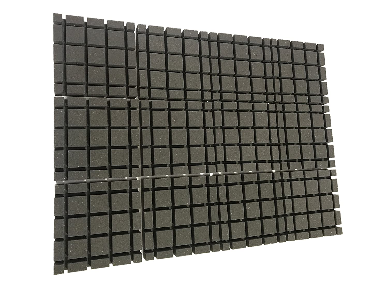 Advanced Acoustics - Espuma acústica en forma de cubo, paquete de 12 baldosas (1,1 m2): Amazon.es: Electrónica