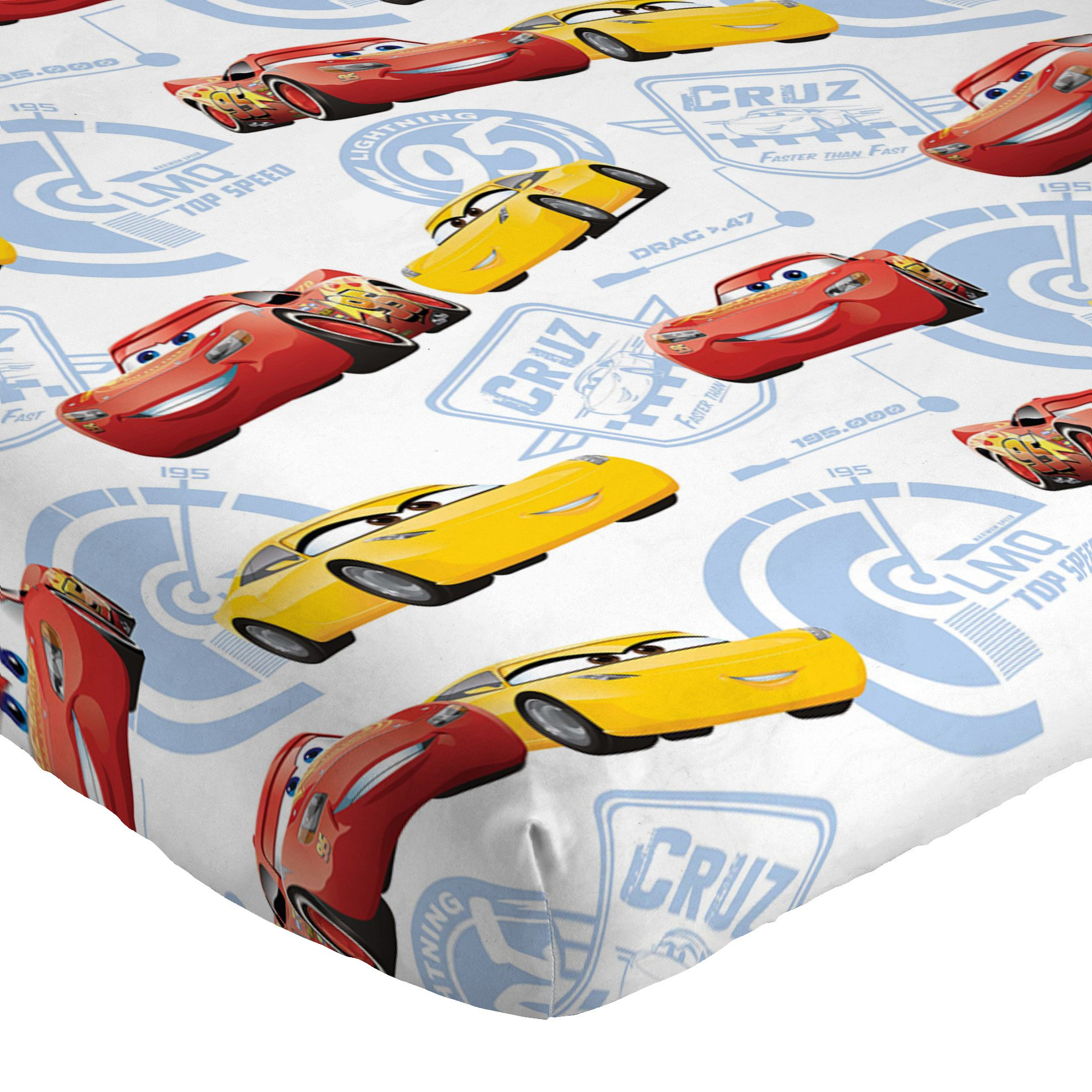 Jay Franco Cars 3 High Tech Twin 3 Piece Sheet Set, Red by Jay Franco (Image #3)