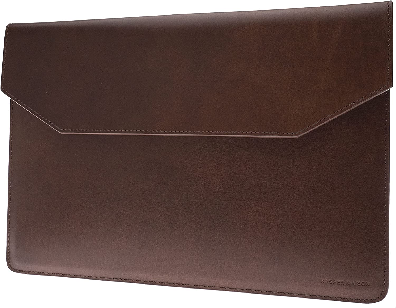 Kasper Maison 15 inch Premium Leather Laptop Sleeve for MacBook Pro 2016-2020 - Brown