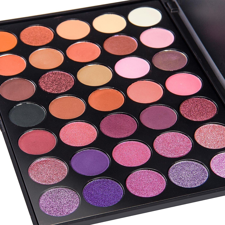 good makeup palettes. de\u0027lanci 35 color eyeshadow makeup palette waterproof kit set good palettes t
