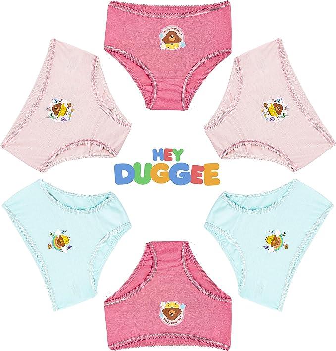 Abbigliamento Intimo Bambina 100/% Cotone Morbido Hey Duggee Mutande Bambina Idea Regalo Compleanno Bimbe 3-8 Anni Confezione da 6 Mutandine Corte Bimba Personaggi
