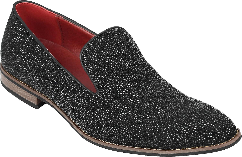 Imitación De Cuero De Los Hombres De Los Zapatos Ocasionales del Holgazán De Plata De La Hebilla Inteligentes