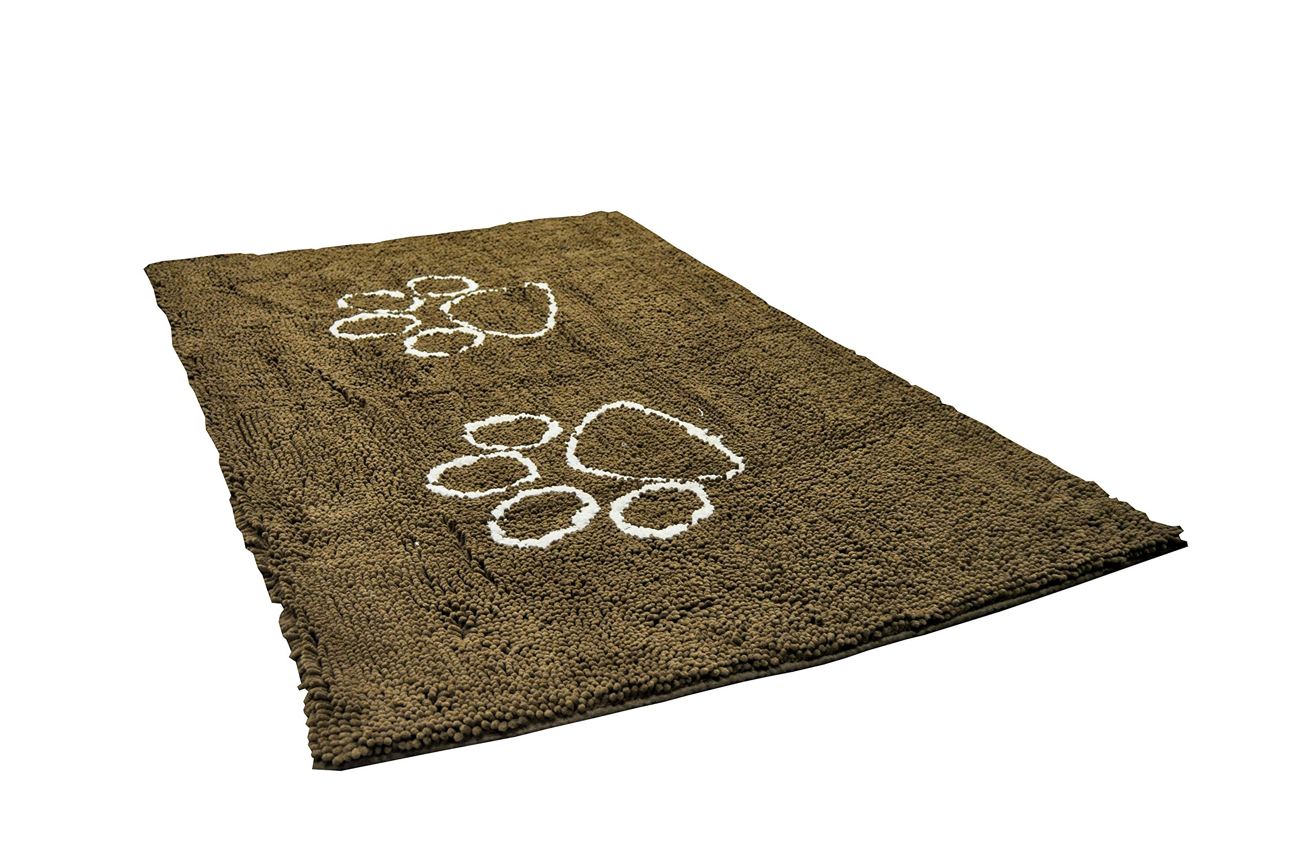 My Doggy Place - Ultra Absorbent Microfiber Dog Door Mat, Durable, Quick Drying, Washable, Prevent Mud Dirt, Keep Your House Clean (Brown w/ Paw Print, Runner) - 60 x 36 inch by My Doggy Place (Image #3)
