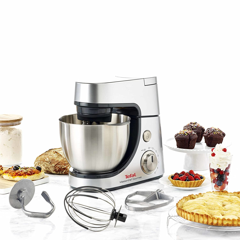 Tefal Masterchef Gourmet - Robot de cocina (4,6 L, Gris, Plata, Giratorio, 1,5 L, Acero inoxidable, ABS): Amazon.es: Hogar