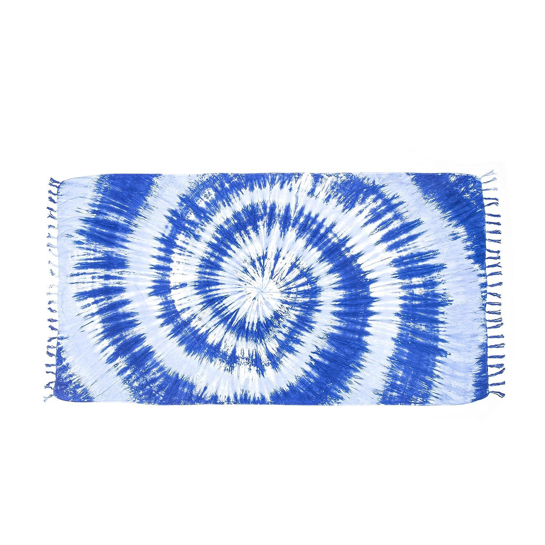 ManuMar sarong donna non trasparente | pareo telo da mare | foulard leggero sfrangiato nel look batik | gonna a portafoglio | XXL taglia forte 215x115 cm | motivi e colori | sauna | spiaggia |