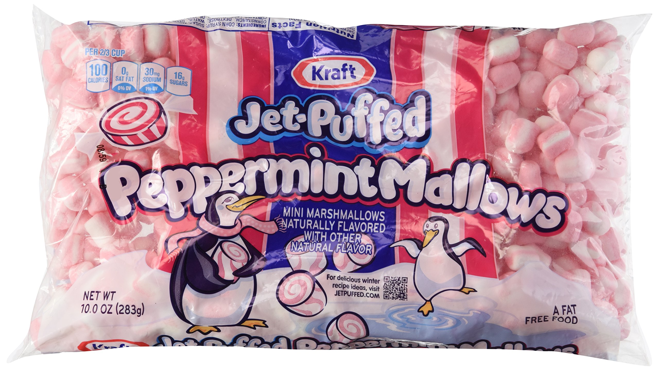 kraft jet puffed peppermint mini marshmallows 10oz bag pack of 3