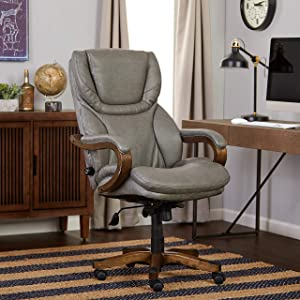 Serta Big and Tall Office Chair, Gray
