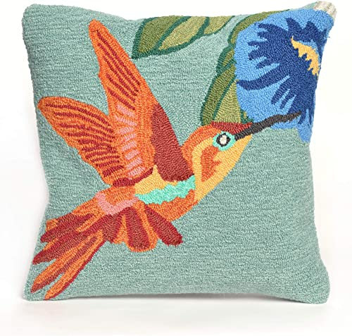 Liora Manne Whimsy Bird and Flower Indoor/Outdoor Pillow