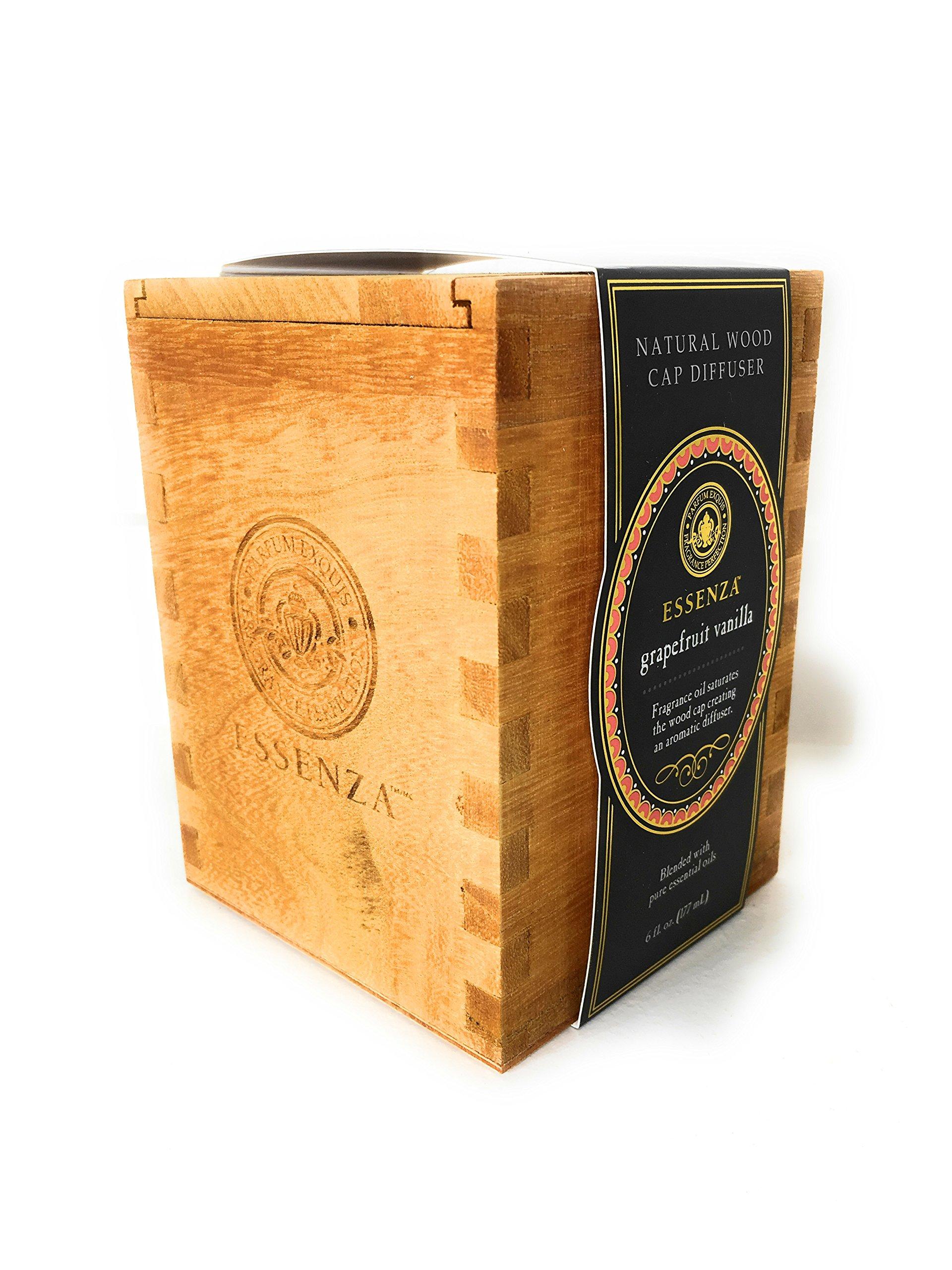Essenza Natural wood cap diffuser Variety 2 Pack (Grapefruit Vanilla & Lily Linen)