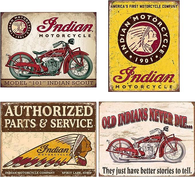 Vintage Biker Tin Signs