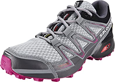 Salomon L39054600, Zapatillas de Trail Running para Mujer, Gris (Light Onix/Black/Deep Dalhia), 45 1/3 EU: Amazon.es: Zapatos y complementos