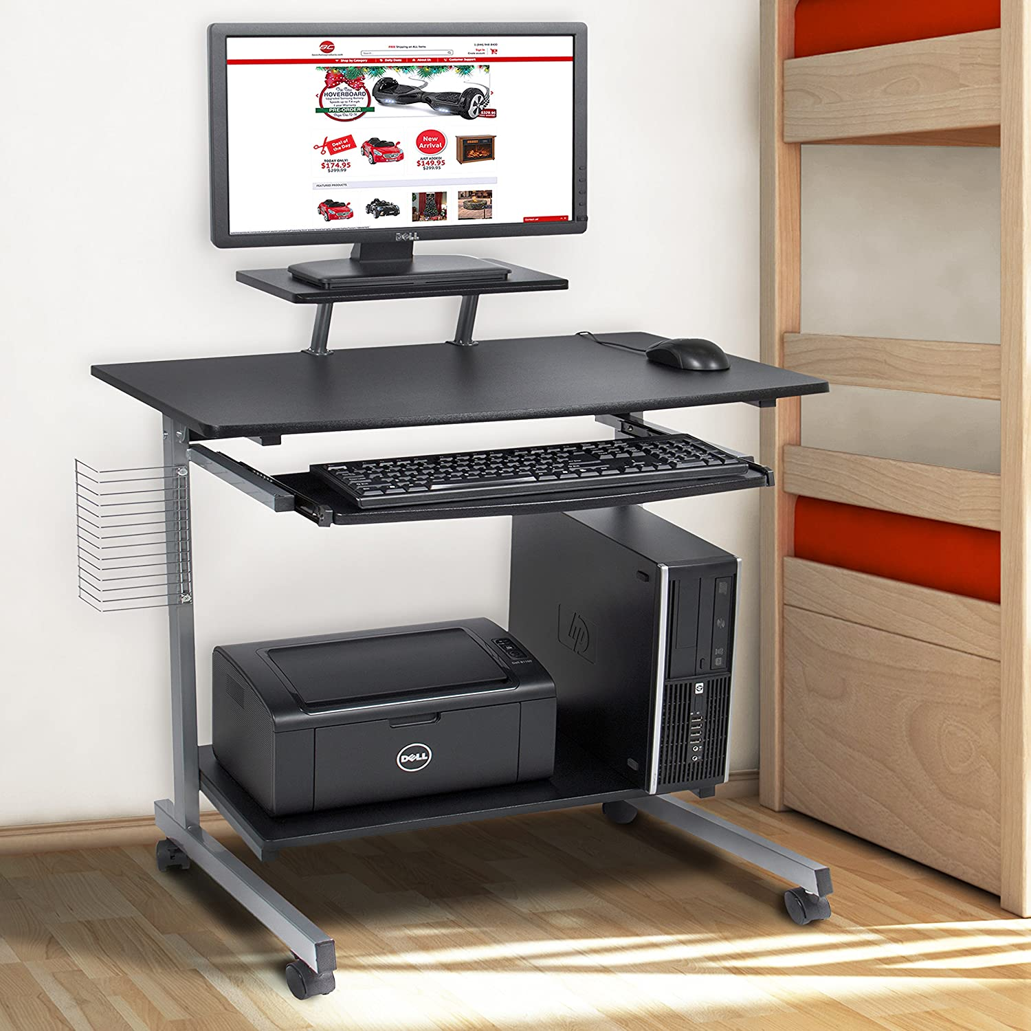Amazon.com : Best Choice Products Computer Desk Cart PC Laptop Table Study  Portable Workstation Student Dorm Home Office : Office Products