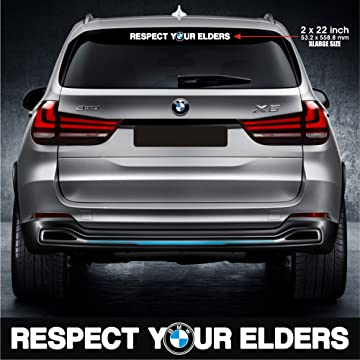 Infinity-270 Respect Your Elders Sticker Decal Motorsports Performance Made in Germany Drift Racing Turbo