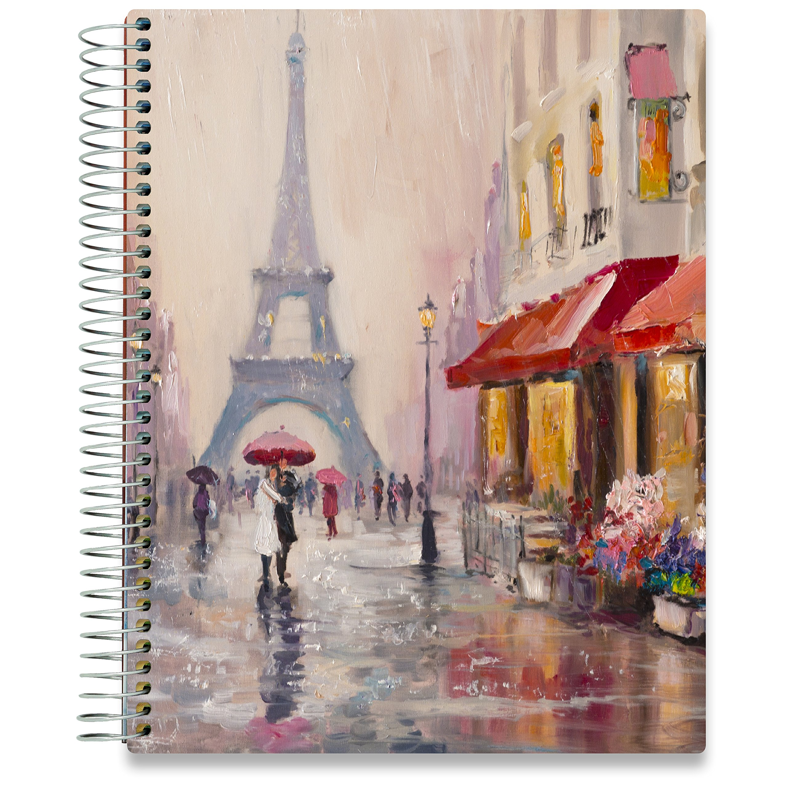 2020 Planner - Dated October 2019-2020 - 8.5 x 11 Paris Hardcover - Daily Weekly Monthly - 15 Months - Dated Oct November December 2019 Plus 2020 Calendar Year - by Tools4Wisdom Planners by Tools4Wisdom