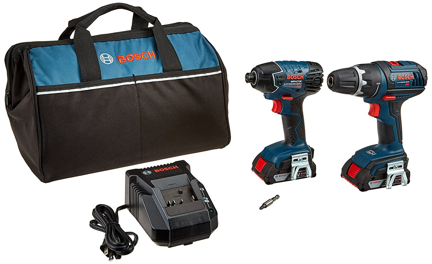 Bosch CLPK232-181 18V 2-Tool Combo Kit Drill Driver Impact Driver with 2 2.0 Ah Batteries