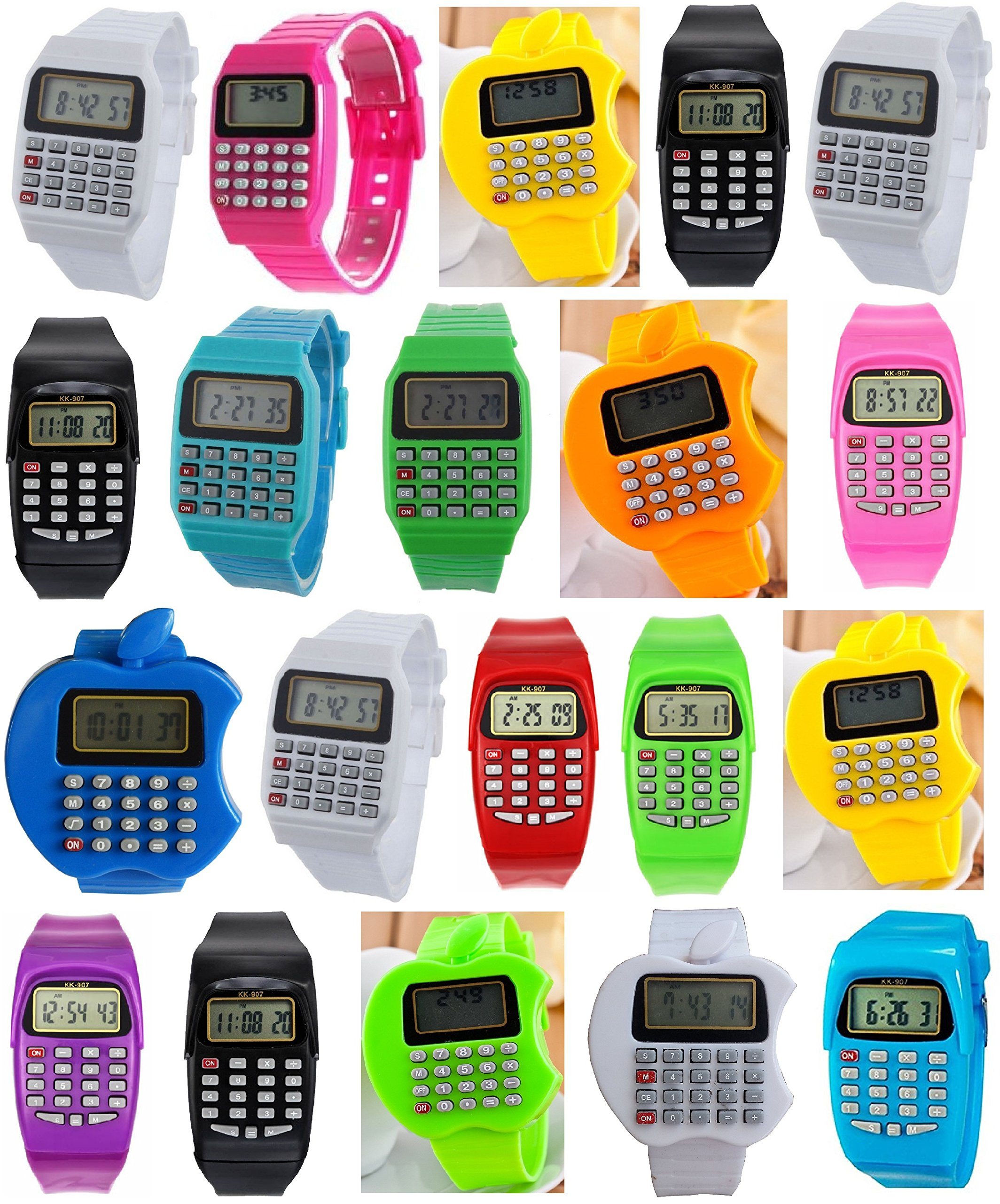 Pappi Boss LED Digital Wrist watches LED Bands Birthday Party Return Gifts Birthday Gifts for kids kids favourite gifts for boys gifts for girls Set of 20 Multicolor LED Digital Bands LED Gift watches