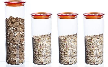Bohemia Cristal - Tarros para conservar Alimentos (4 Unidades ...