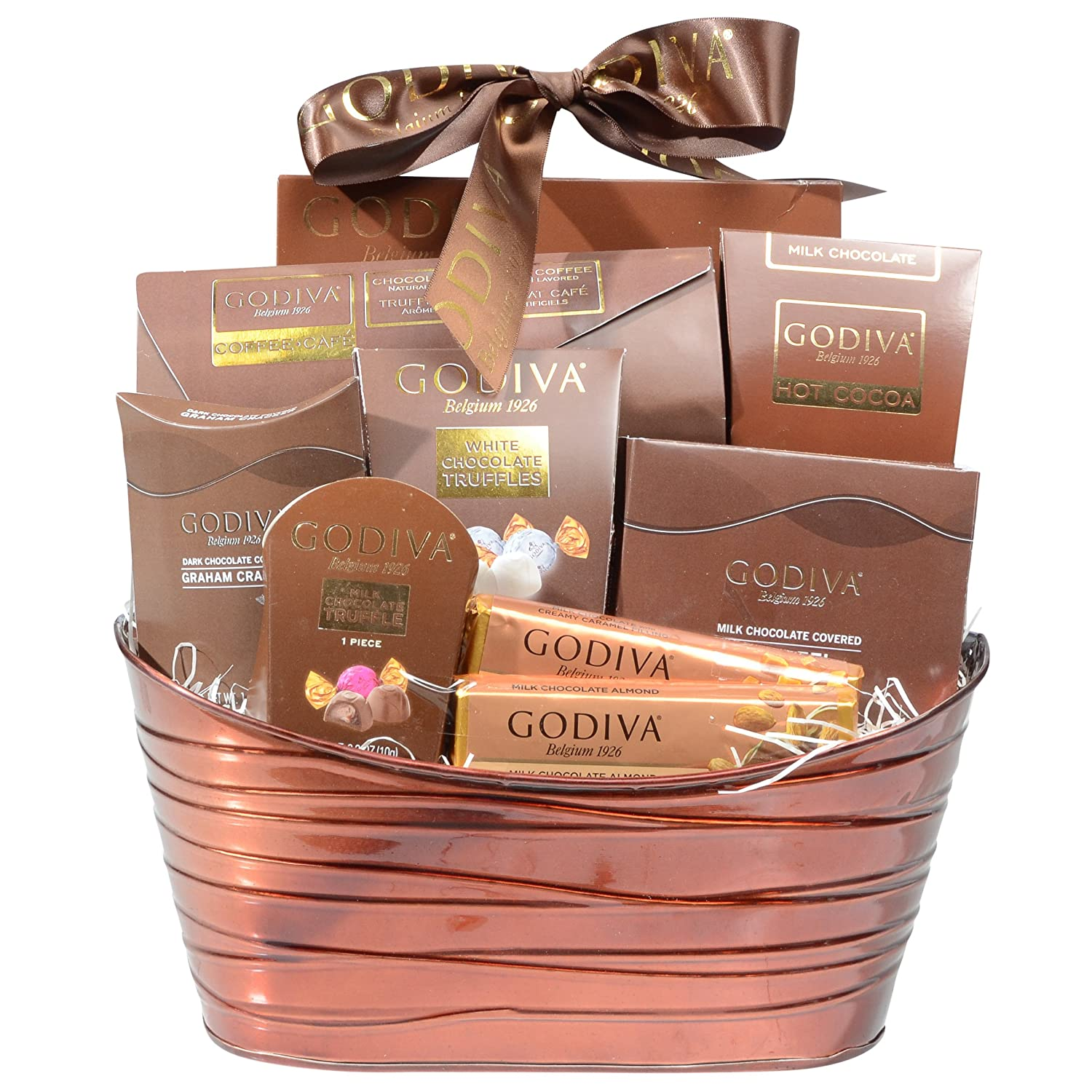 Amazon godiva chocolatier gift assortment in a metal amazon godiva chocolatier gift assortment in a metal reusable basket 2017 chocolate holiday mix grocery gourmet food negle Gallery