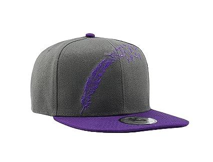 Gorra de béisbol con diseño de pájaros de una pluma, 2 tonos, color morado y gris
