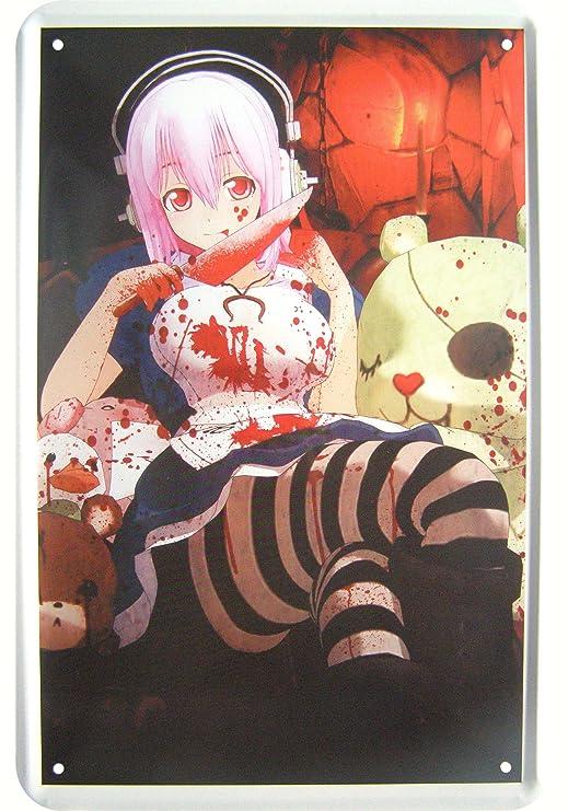Decorativo Cartel de chapa con manga japonés Diseño: Amazon ...