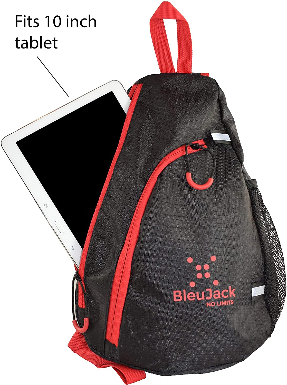 7b1a97fc0b15 BleuJack Sling Backpack -Cross Body -Light Weight Travel Bag- Hiking  Fishing Gym Biking- Multipurpose Daypack- Waterproof Material