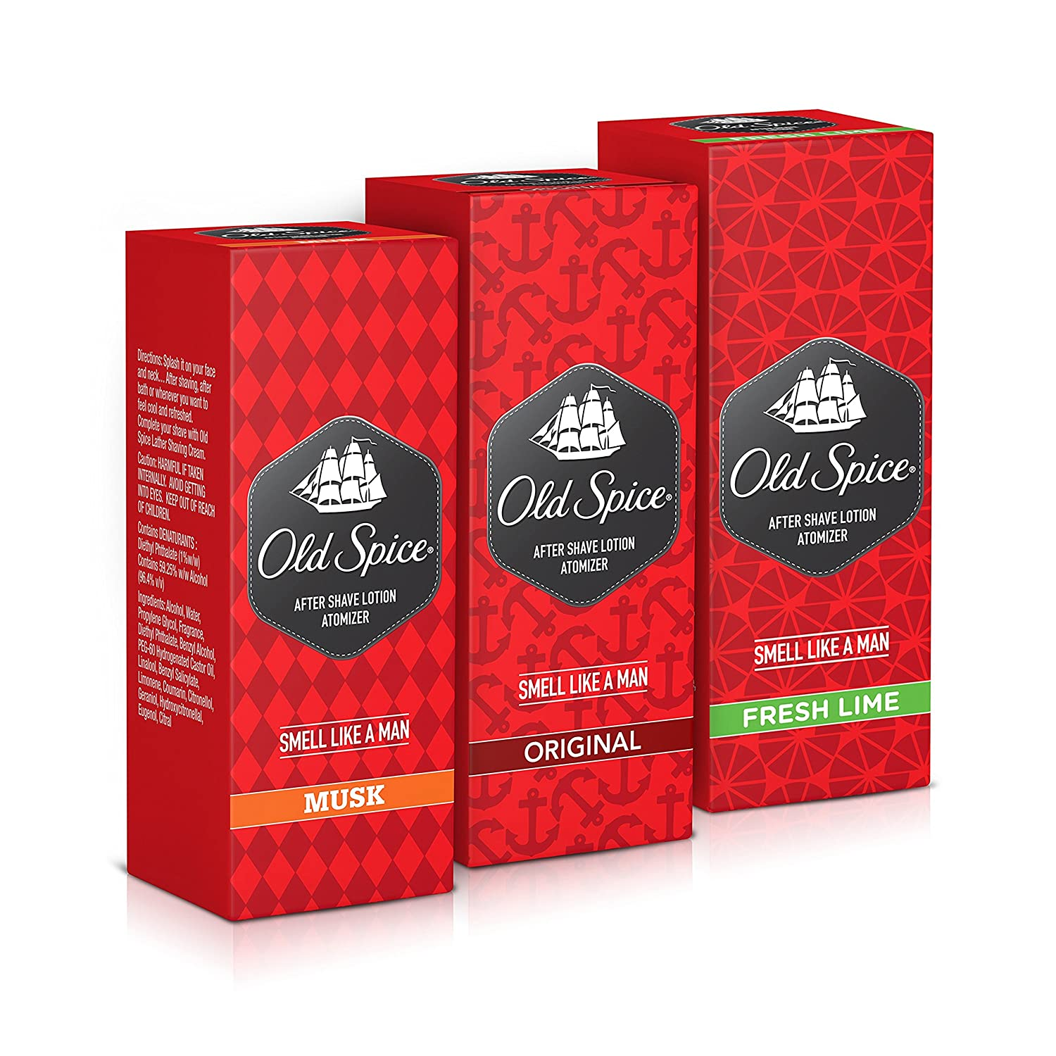 Old Spice After Shave Lotion musk Clients First Splash For Gentelmen pack Of 3 X 150ml