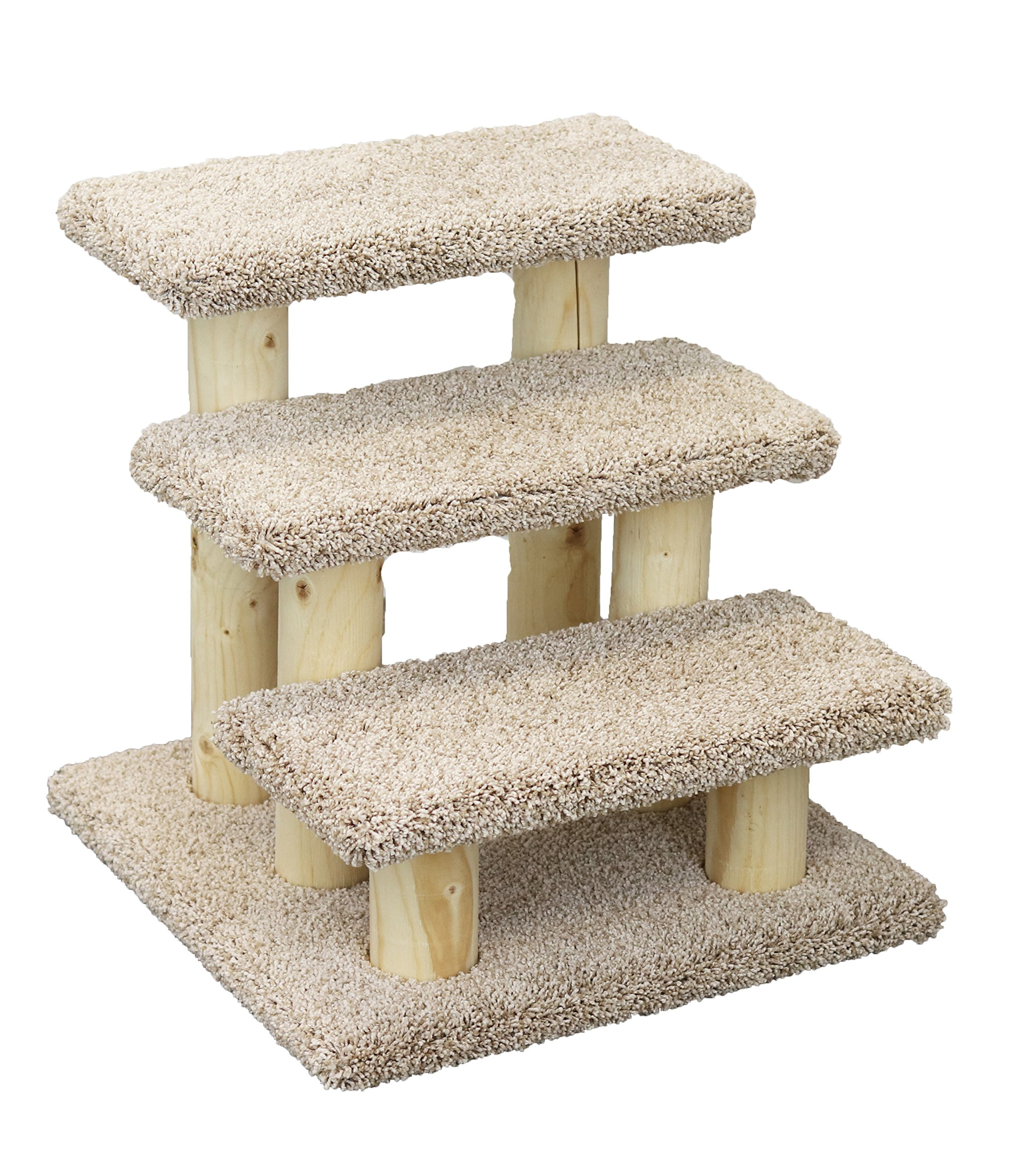 New Cat Condos 110223 Pet Stairs, Large, Beige