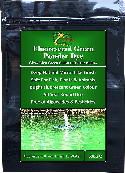 Dye, color verde fluorescente 500 g para estanque, lago y ...
