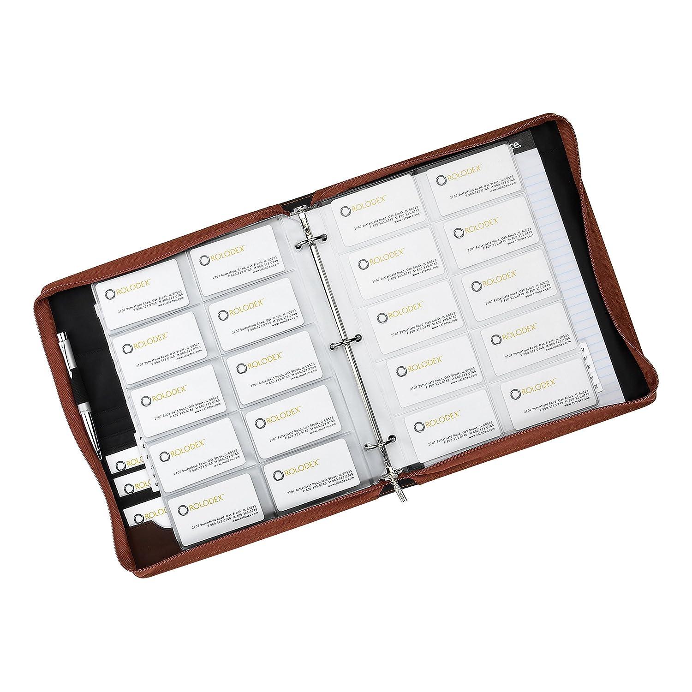 Amazon rolodex explorer collection business card book 240 card amazon rolodex explorer collection business card book 240 card brown 22337 office products colourmoves