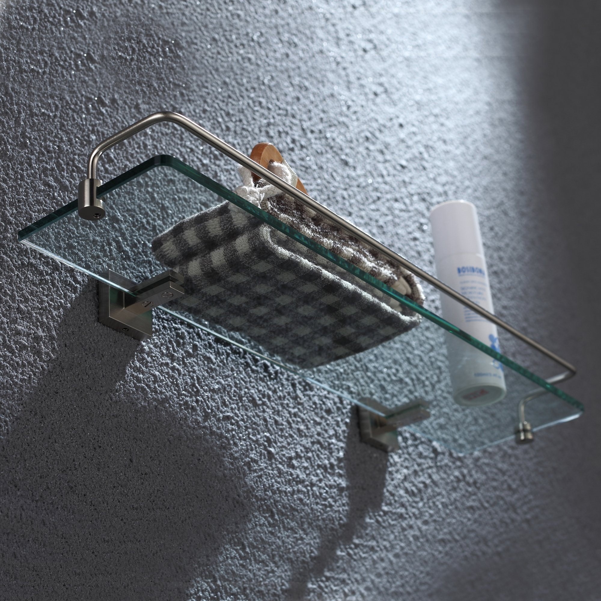 Kraus KEA-14445BN Aura Bathroom Accessories - Shelf with Railing Brushed Nickel by Kraus (Image #4)