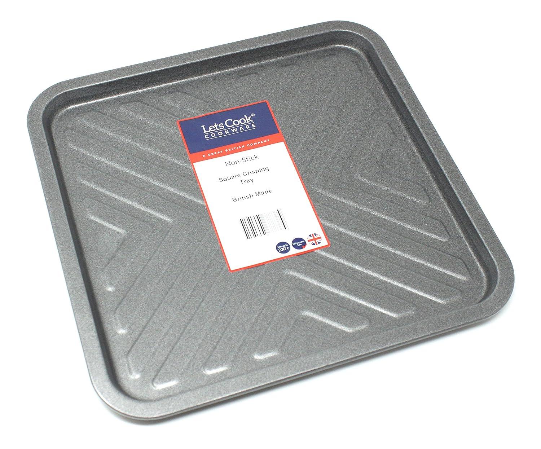 Quadrato Crisp teglia da forno, British Made with Teflon Select® TM antiaderente Lets Cook Lets Cook Cookware