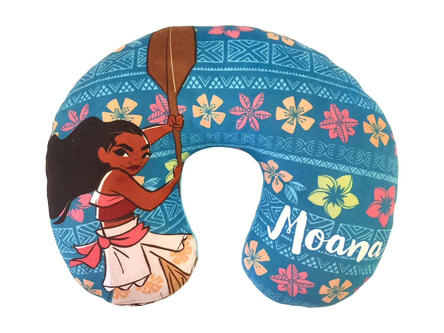 Disney Moana Flower Travel Neck Pillow, Teal Neck Pillow by Disney