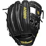 Wilson A2000 11.5-Inch SuperSkin Baseball Glove, Black/Wilson Gold, Left (Right Hand Throw)
