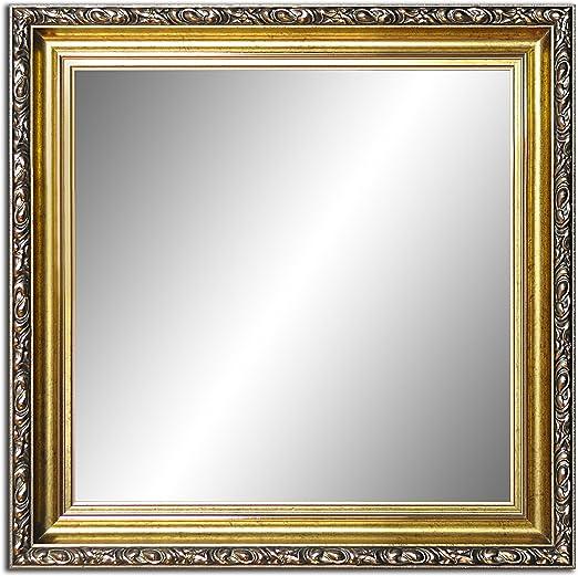 Badezimmerspiegel Antik.23 X 23cm Spiegel Mit Rahmen Badezimmerspiegel Antik Alte Spiegel Handgefertigte Stabiler Ruckwand Rahmenleiste 60 Mm Breit Und 45 Mm Hoch Rahmen Farbe Gold Amazon De Kuche Haushalt