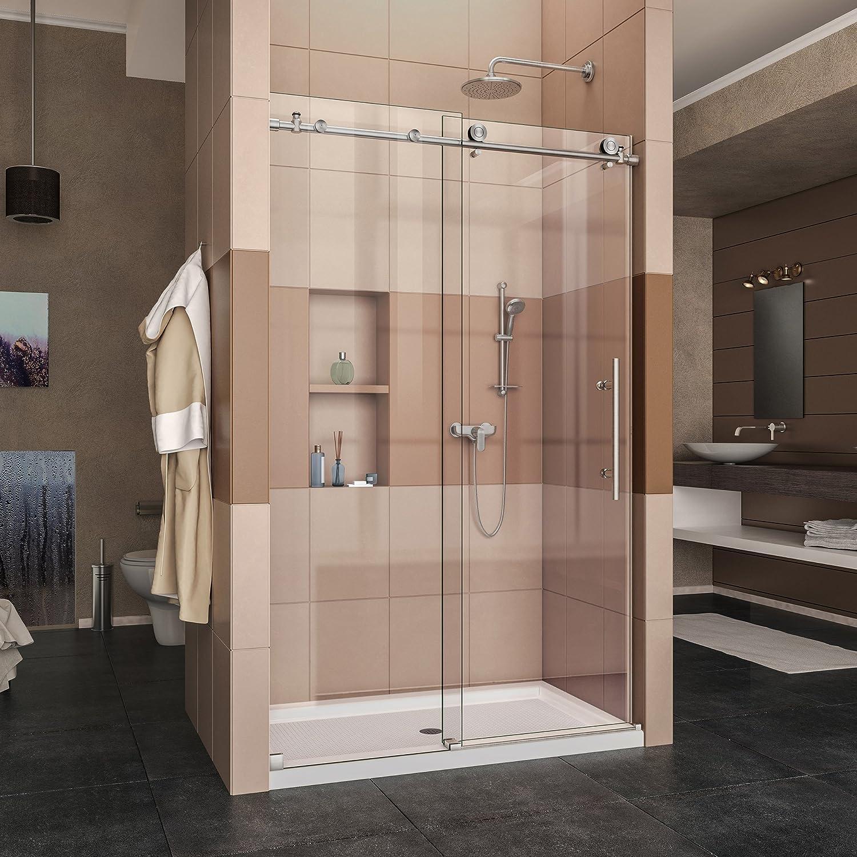 DreamLine enigma-x totalmente sin Marco deslizante para mampara de ducha y Slimline 36