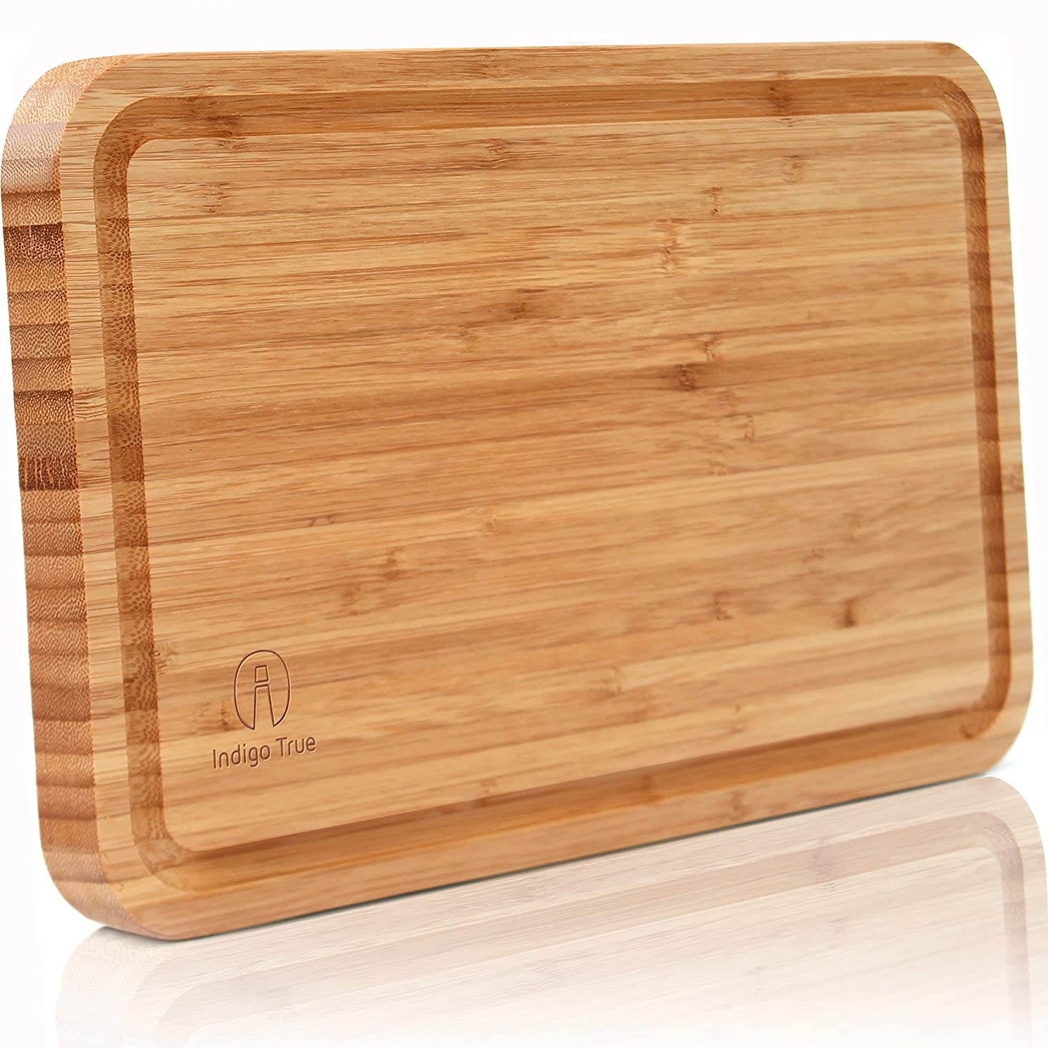 Wood Cutting Board with Grooves