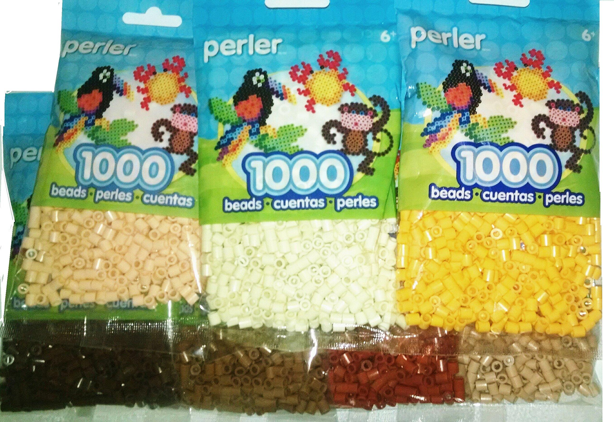 Perler Bead Bag, 7 Brown Group (Brown, Light Brown, Tan, Rust, Sand, Cheddar, Cream) by Perler