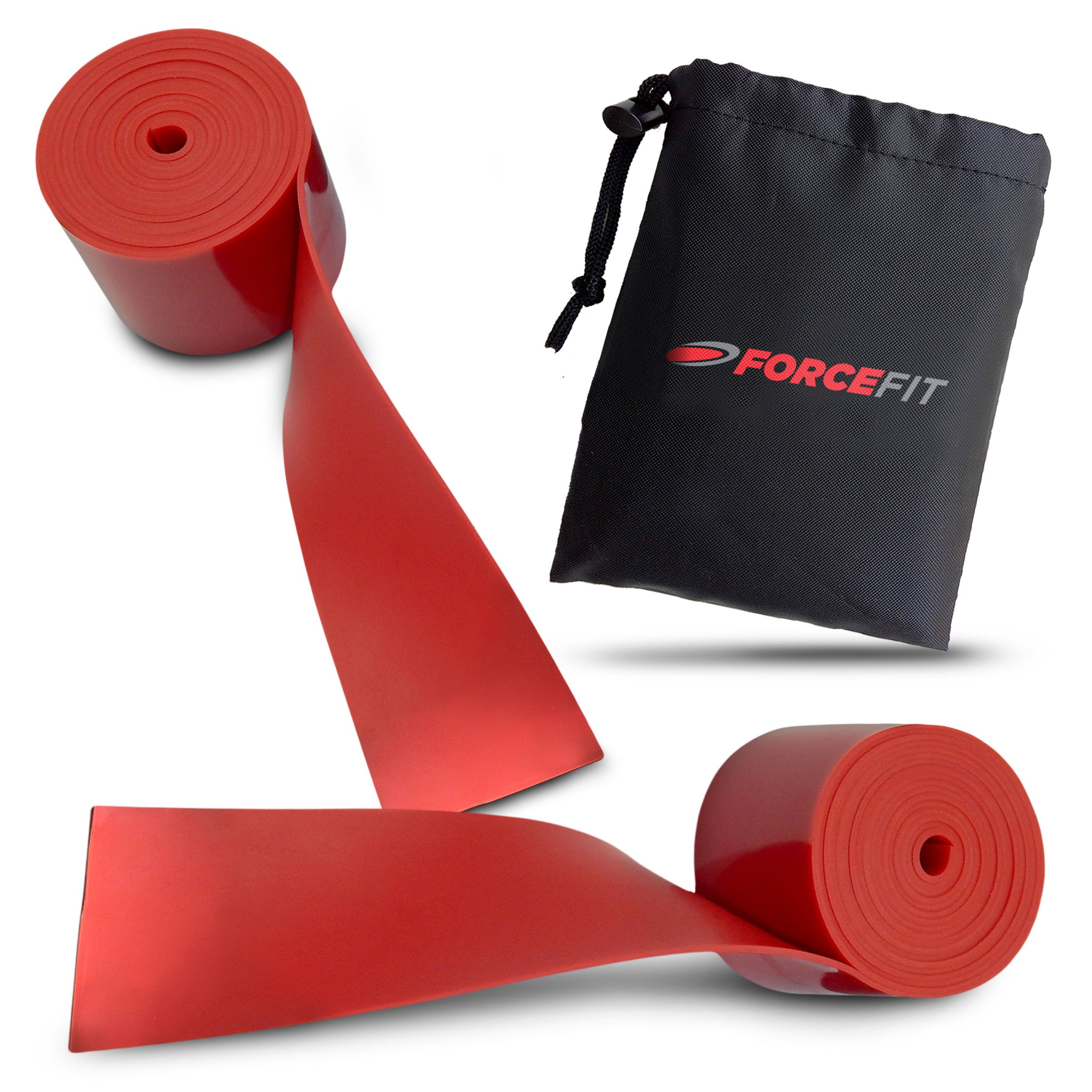 ForceFit Floss Bands for Joint and Muscle Recovery - 1 Red & 1 Red (2 Red Bands)