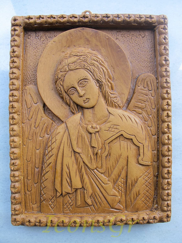 Handmade Carved Aromaticワックスから祝福アイコンアトスのArchangel Gabriel 173 B00J2AIH9K