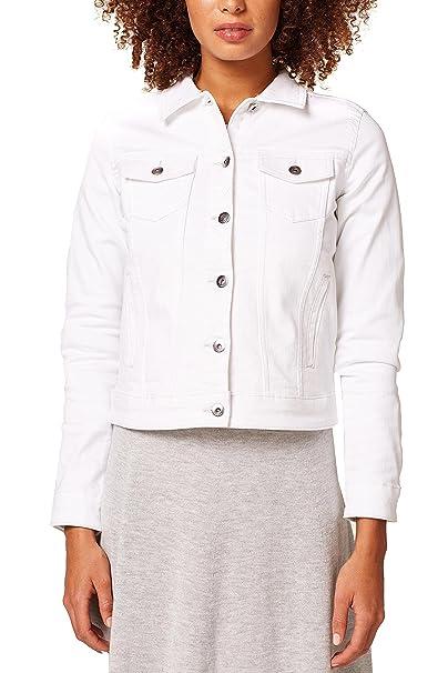 1a42d1629909 edc by Esprit Women's 028cc1g012 Denim Jacket, White (White 100), X-