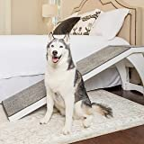 PetSafe CozyUp Bed Ramp for Dogs and Cats - Durable Frame Supports up to 120lb - Furniture Grade Wood Pet Ramp with Cherry or